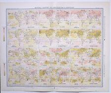 1899 grandi meteo meteorologia mappa mondo Mensile cambiamenti di temperatura pressione