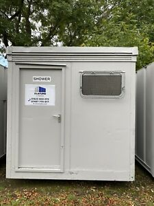 8ft X 8ftTwin Shower Block Cabin Container; Site Cabin, Welfare Unit Wc Toilet