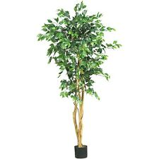 Nearly Natural Artificial 5 ft Ficus Silk Tree Green BRAND NEW