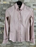 Thomas Pink Ladies Size 8 Striped Long Sleeve Shirt Blouse