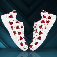 Cartoon Ladybugs Women's And Children's Sneakers - Custom Design Shoes
