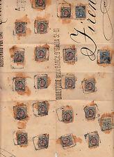 REGNO-TRICOLORE-Due 25c+45c+venti 1L FLOREALE(73+75+77)-Coperta di pacco 1903