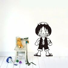 One Piece Luffy Wall Decal Removable sticker Home decor DIY Kids Vinyl art mural