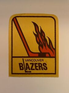 Vintage 1973 Vancouver Blazers Iron on Patch WHA