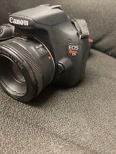 Canon EOS Rebel T5 18.0MP Digital SLR Camera - Black with prime EF 50mm 1:1.8STM