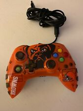 Microsoft Xbox 360 Mad Catz NFL Cleveland Browns Wired Controller Gamepad
