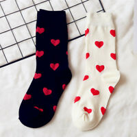 Warm Socks Cute Love Heart Pattern Autumn Winter Women Girl Cotton Socks