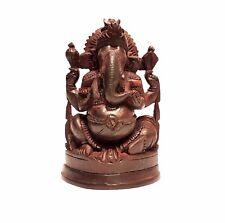 Superb Vintage Wooden Carved Ganesha Elephant Hindu Deity / Temple Statue Figure