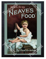 Historic Neave's baby food. circa 1900. Advertising Postcard