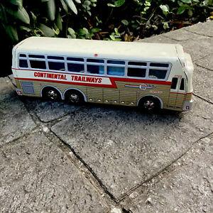 Vtg 1960's Continental Trailways Tin  Bus Made In Japan Martz Greyhound 🚌🚍🚍