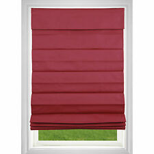 Cordless Roman Shade - Red