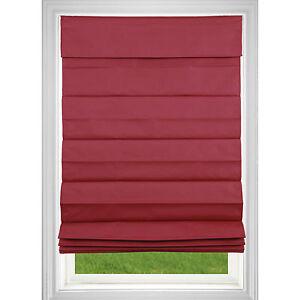 Cordless Roman Shade - Red