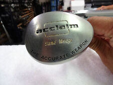 "Acclaim ""The Accurate Weapon"" Sand Wedge Original Steel Stiff Flex"