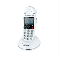 TELEPHONE SANS FIL AMPLIFIE SENIOR CLAVIER GROSSES TOUCHES SONNERIE FLASH 80 dB