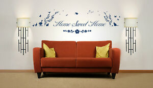 Home Sweet Home Quote, Nature, Wall Art Stickers Decal Murals, Bedroom, Lounge