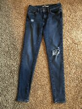 LEVI'S WOMENS JEANS SUPER SKINNY 710. SIZE 27/32 Distressed Ripped EUC