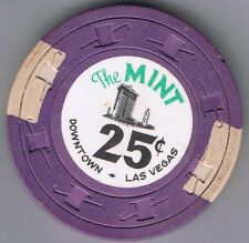 The Mint 25¢ Casino Chip Purple H&C Mold Las Vegas Nevada 1963