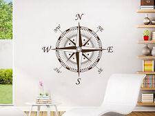 Nautical Compass Wall Decal Navigate Ship Vinyl Sticker Decals Compass Rose NV91
