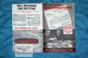 Flugblattpropaganda 2.Wk - ORIGINAL FLUGBLATT - engl./amerk. 1944 Kriegsgefangen