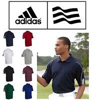 ADIDAS GOLF T-Shirt A76 Climalite Mens Size S-3XL Three Stripes Polo Sport Shirt