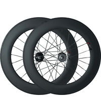 700C Carbon Fixed Gear single speed Wheelset 88mm Clincher Track Carbon Wheels