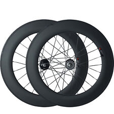88mm Tubular Track 700C Carbon Wheels 3K Carbon Fixed Gear single speed Wheelset