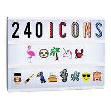 Lightbox Ergänzungsset, 240 Buchstaben und Symbole, Lichtbox Erweiterung, Zahlen