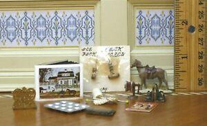 Lot of 10-Piece Household / Décor Items (Some Artisan Work) Dollhouse Miniature