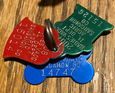 Lot Of 3 Illinois Dog Rabies Tags Sangamon County 2007, 2008 & 2009