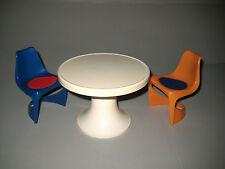 60er Jahre Möbel zwei Casala Stühle + Tulpentisch Miniatur Kunststoff