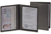 Rimbaldi® Ausweishülle / Ausweisetui / Ausweismappe aus feinem Leder in Schwarz