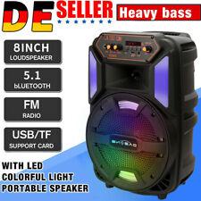 Bluetooth Lautsprecher USB SD AUX MP3 Player Radio Partylautsprecher für Karaoke
