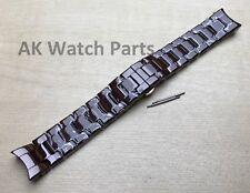 Ersatzakku Braun Keramik Armband passt Emporio Armani ar1446 Uhr Armband/Band/Link