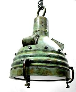 Industrial Green Patina Finish Hollywood Shoot Ceiling Light Electric Lamp Gift