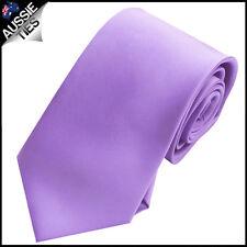 MENS DARK / CLASSIC LAVENDER 8.5CM TIE necktie wedding plain formal
