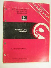 John Deere 6 Ft 12 Ft 3.66 Mower Bars E73483 A4 Operator'S Manual