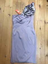 Karen Millen Taupe off Shoulder Evening Dress @ Size 12 EU 40 Party