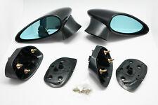 (2) Door Mirror Spn Spoon Style W/blue Lens For 06-11 HONDA CIVIC FD/SNL Emark