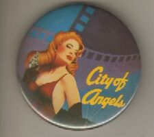 """Pinback  Button   """"City of Angels""""     Broadway   1989"""