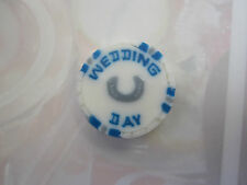 Navy Blue and white wedding day sweets, favours