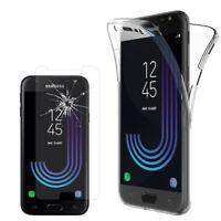 Coque Silicone Gel 360° protection Samsung Galaxy J3 (2017) + Film Verre Trempe