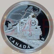 2015 - Canadian Home Front #1 - Transcontinental Railroad - $20 1 oz Silver Coin