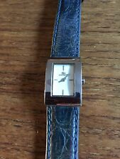 Ladies SS Square Faced Watch Leather Strap in Wear  W282/8