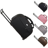"Duffle Bag 24"" Rolling Wheeled Trolley Bag Tote Carry On Luggage Travel Suitcase"