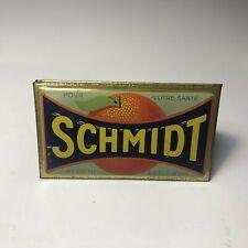Vintage Schmidt Orange Advertising Sign