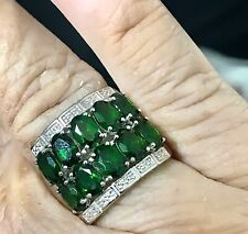 Size 7.25 Excellent ‼� 💚Dk Chrome Diopside Sterling Ring