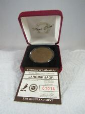 HIGHLAND MINT BRONZE MEDALLION JAROMIR JAGR LIMITED EDITION COA 01014/25000 COIN