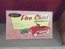 "NRFB Vintage 1996 XONEX ""Fire Chief"" Mini Pedal Car in Original Box  (NBS5)"