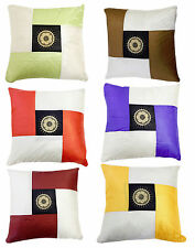 2pc Home Decorative Pillow Covers - Embroidered Sofa Indoor Sham Set Multicolor