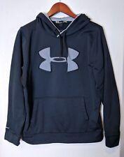 Under Armour Men's Sweatshirt sz M black storm 1 cold gear loose hoodie athletic